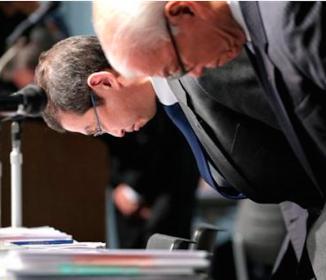 タカタ会長兼社長、会見で謝罪も辞任は否定「問題解決が私の責任」