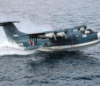 高知沖で訓練中「海自飛行艇のエンジン脱落」