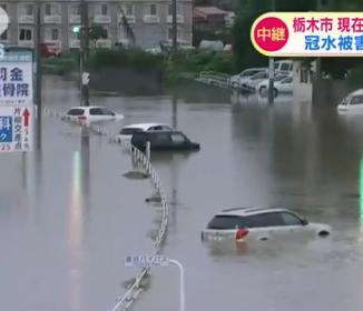栃木市で夜から大雨続く 水没したままの車も…