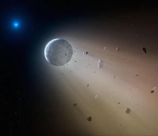 惑星の破片をむさぼる「ゾンビ星」を観測