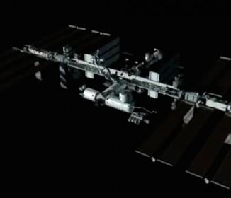国際宇宙ステーションが増築していく経過を再現したCG映像