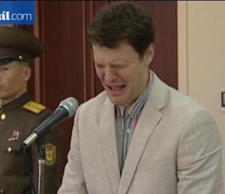 【無慈悲】無茶しやがって!北朝鮮で旗を窃盗!21歳米国学生が涙ながらに謝罪!