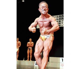 角田信朗、ボディビル国内デビュー戦でいきなり3冠