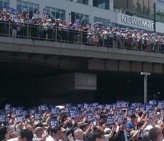 【悲報】東京都知事選 鳥越俊太郎さんの街頭演説に集まった連中