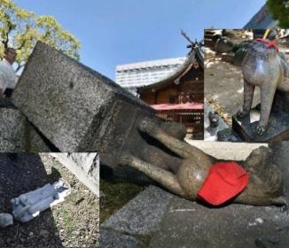 韓国人が日本で仏像地蔵100体破壊「怒りで声が出ない」