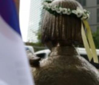 横断幕破損で男性拘束「少女像で道路渋滞」不満