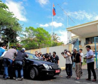 正男氏殺害参考人「北朝鮮大使館内に」 マレーシア警察