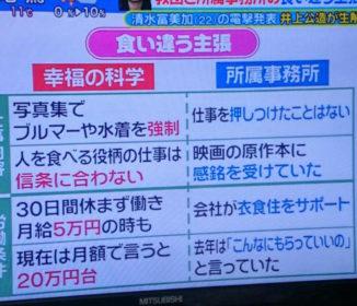 【話題!画像】清水富美加さん、昇給後の月収