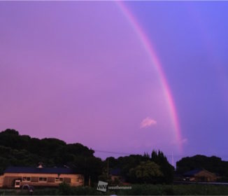 台風離れ、鹿児島・熊本で虹が出現!