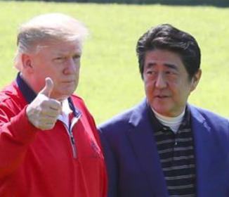 来日中のトランプ大統領 安倍首相に韓国への困惑伝える